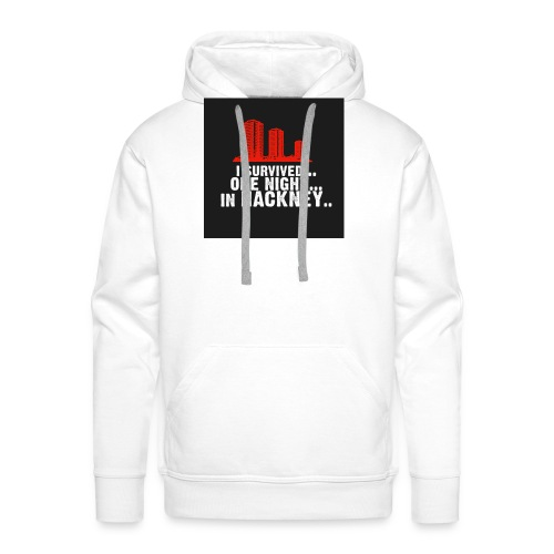 i survived one night in hackney badge - Men's Premium Hoodie