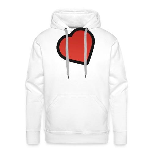 heart - Herre Premium hættetrøje