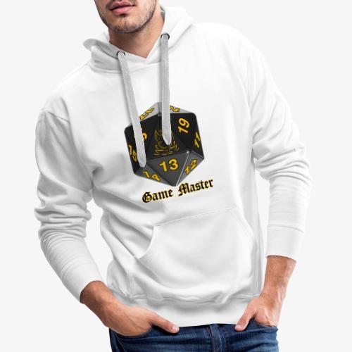 Game master yellow - Sweat-shirt à capuche Premium pour hommes