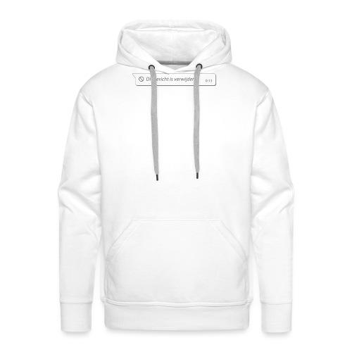 dit bericht is verwijderd - Mannen Premium hoodie