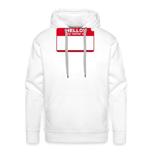 Hello! my name is by Punktzebra brands - Männer Premium Hoodie