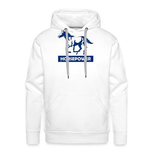 Galoppierendes Pferd Horsepower (Blau) - Männer Premium Hoodie