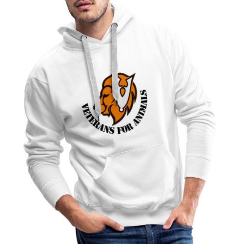 logo zwart - Mannen Premium hoodie