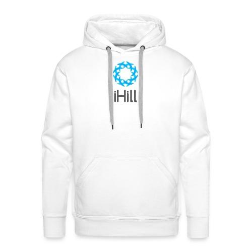 iHill, cool blue design - Men's Premium Hoodie