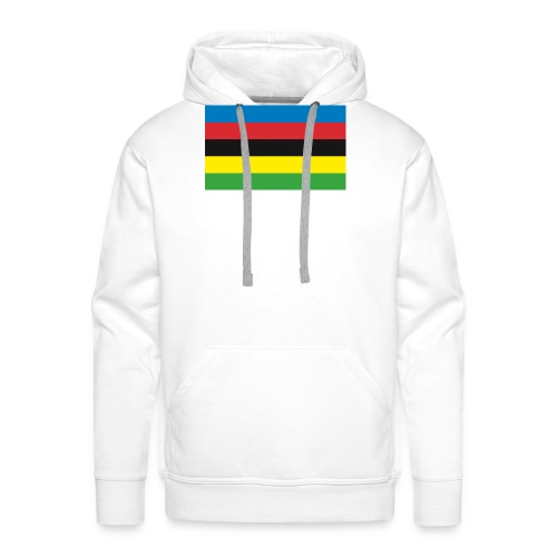 Cycling_World_Champion_Rainbow_Stripes-png - Mannen Premium hoodie