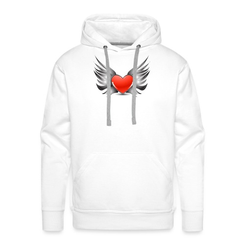 Heart Wings - Sweat-shirt à capuche Premium pour hommes
