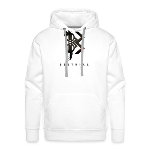 Viking Besthial Blanc - Sweat-shirt à capuche Premium pour hommes