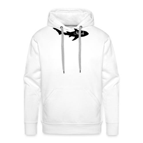 Tiburon logo - Sudadera con capucha premium para hombre