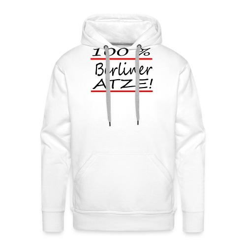 100% Berliner Atze - Männer Premium Hoodie