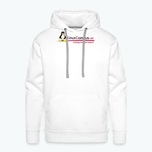 Logo linuxcampus ohneblas - Männer Premium Hoodie