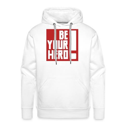 BE YOUR HERO Red - Sweat-shirt à capuche Premium pour hommes