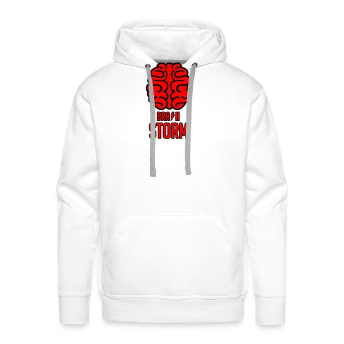 BrainStorm Logo Blank png - Men's Premium Hoodie