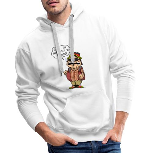 Hutbürger tragen Button - Männer Premium Hoodie