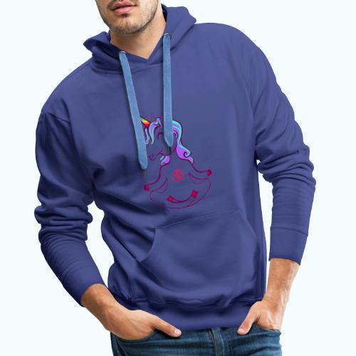Unicorn meditation - Men's Premium Hoodie