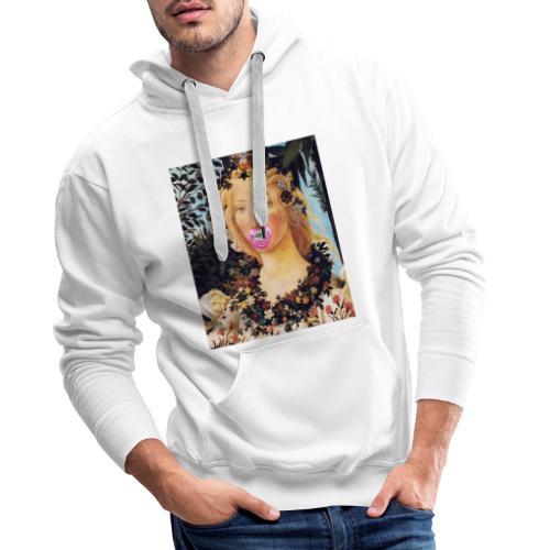 Printemps Botticelli - Sweat-shirt à capuche Premium pour hommes
