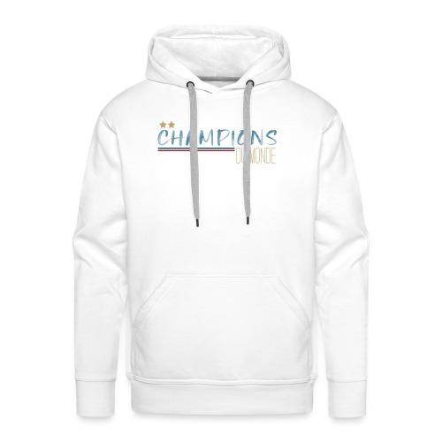 France - Champions du monde - Sweat-shirt à capuche Premium pour hommes