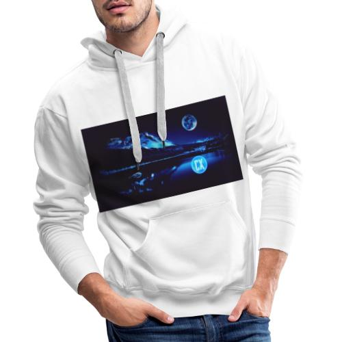 Måne - Hoodie - Herre Premium hættetrøje
