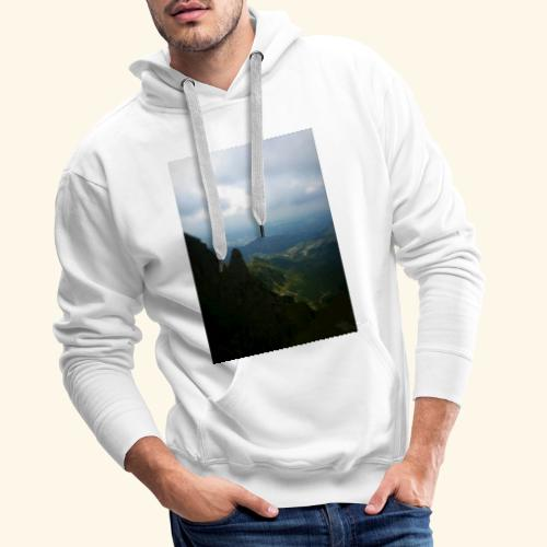 Góry - Bluza męska Premium z kapturem