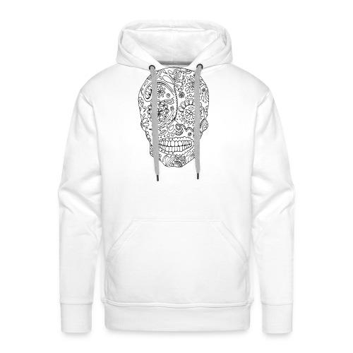 Sugar Skull - Sweat-shirt à capuche Premium pour hommes