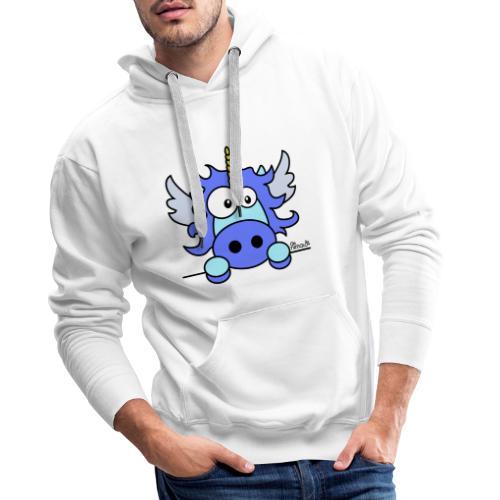 Licorne Bleu, Poney - Sweat-shirt à capuche Premium pour hommes