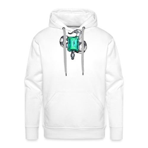 Emerald Snake - Sweat-shirt à capuche Premium pour hommes