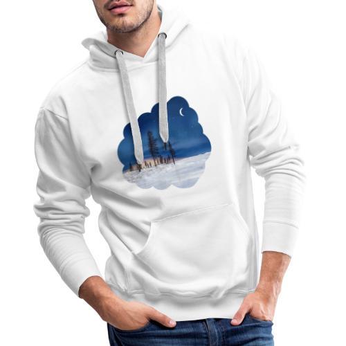 Poolnacht Lapland - Sweat-shirt à capuche Premium pour hommes