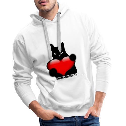 SirMadnessTV - LOVE - Sweat-shirt à capuche Premium pour hommes
