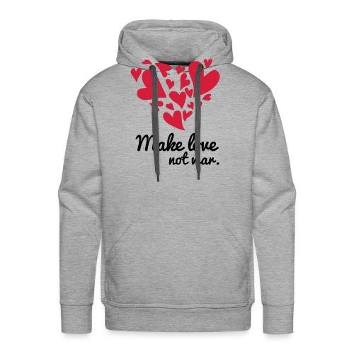 Make Love Not War T-Shirt - Men's Premium Hoodie