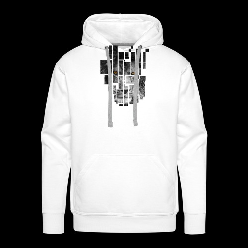 Pixel Lion Tattoo Inspire - Men's Premium Hoodie