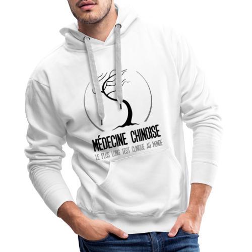 Medecine chinoise test clinique au monde - Sweat-shirt à capuche Premium pour hommes