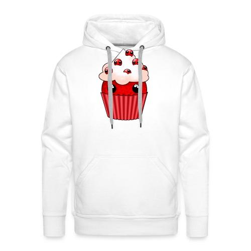 kawaii cupcake cranberry - Men's Premium Hoodie