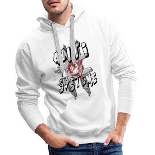 H-Tag Anti Système - Sweat-shirt à capuche Premium pour hommes
