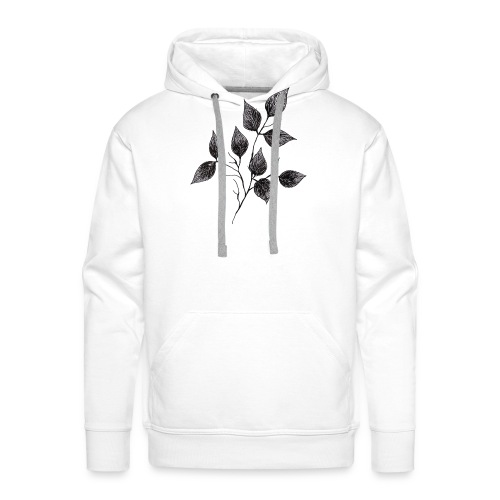 Leaves - Bluza męska Premium z kapturem
