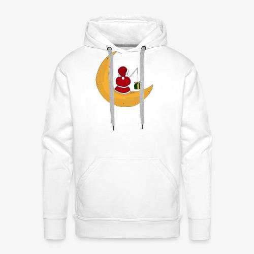 Santa sur un croissant de lune - Men's Premium Hoodie