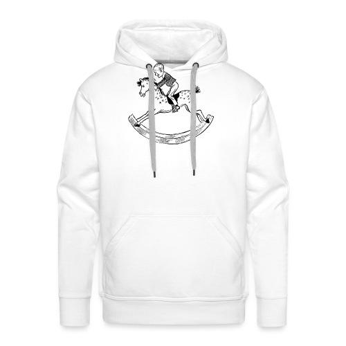 konik na biegunach - Bluza męska Premium z kapturem