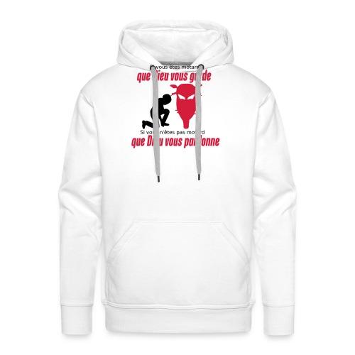 Que Dieu vous pardonne - Sweat-shirt à capuche Premium pour hommes