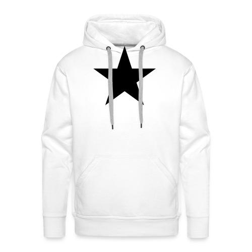 Schwarzer Stern, black star, Rock, Space, Heroes - Männer Premium Hoodie