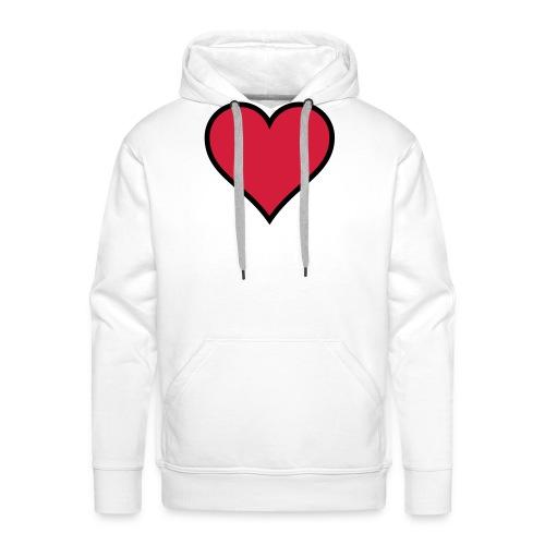 Outline Heart - Men's Premium Hoodie