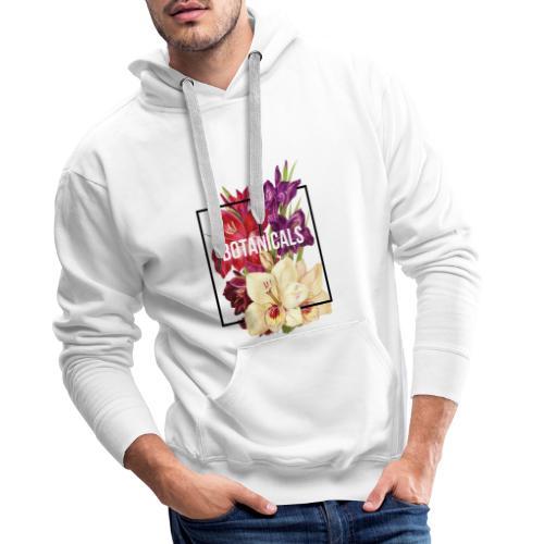 Composizione collage floreale - Felpa con cappuccio premium da uomo