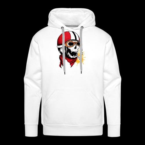 Oldschool skull - Sweat-shirt à capuche Premium pour hommes