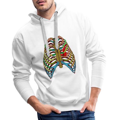 Corazón de color Cipotescü - Sudadera con capucha premium para hombre