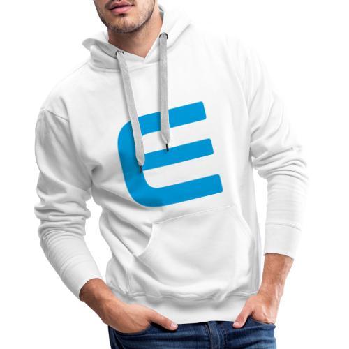 E - Blau - Männer Premium Hoodie