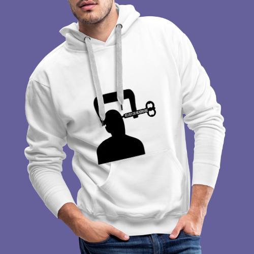 Mal de tête en grappe dans un étau - Sweat-shirt à capuche Premium pour hommes