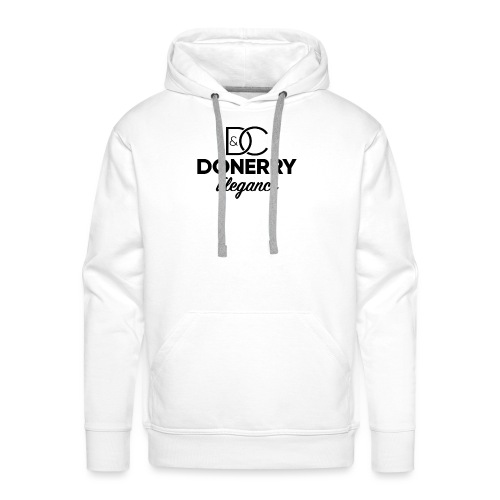 Donerry Elegance Black Logo on White - Men's Premium Hoodie