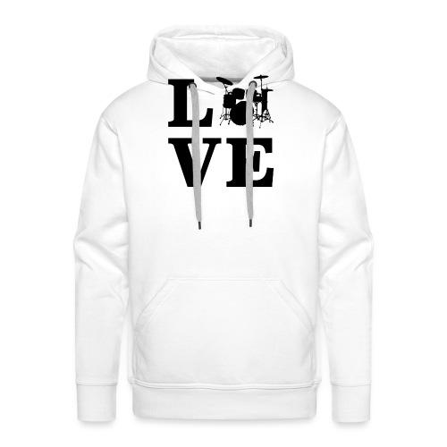 I Love Drums / Schlagzeug T Shirt für Schlagzeuge - Männer Premium Hoodie