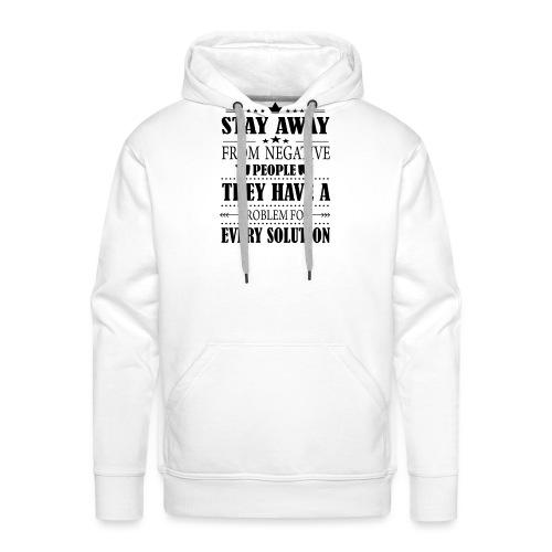 Stay away - Miesten premium-huppari