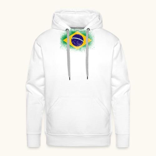 Drapeau brésilien cadeau du Brésil - Sweat-shirt à capuche Premium pour hommes