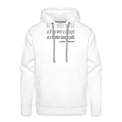 be in the world - Sweat-shirt à capuche Premium pour hommes