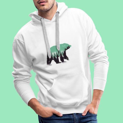 Forest bear - Mannen Premium hoodie