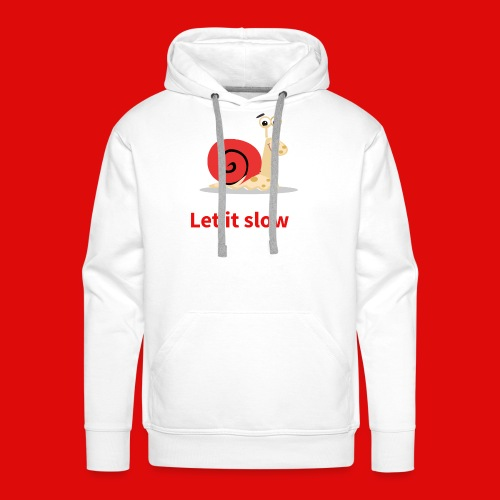 let it slow escargot - Sweat-shirt à capuche Premium pour hommes